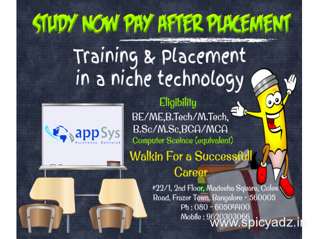 STUDY NOW PAY AFTER  PLACEMENT - 1