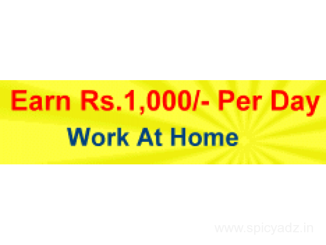 Earn Rs.1000/day working part time on internet. - 1