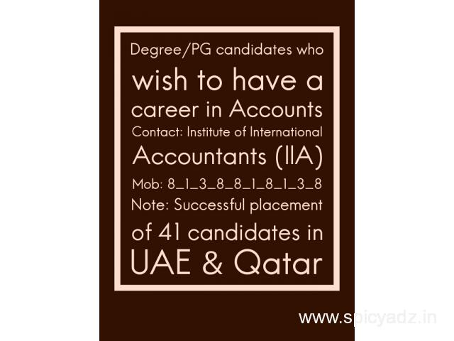 Graduates or Post graduates who wish to have a Career in Accounts - 1