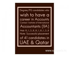 Graduates or Post graduates who wish to have a Career in Accounts
