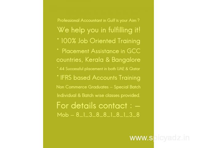 Come as a fresher & be a Professional Accountant once you complete our course - 1