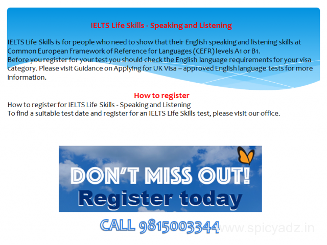 ielts life skills test in amritsar,moga - 2