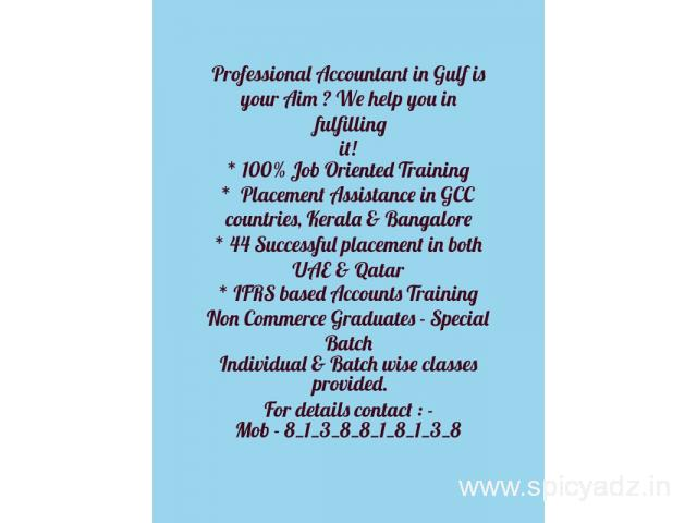 Come as a fresher  be a Professional Accountant once  complete in course - 1
