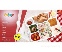 Delicious Veg Thali- Pytwo Food Delivery Shops in Lucknow