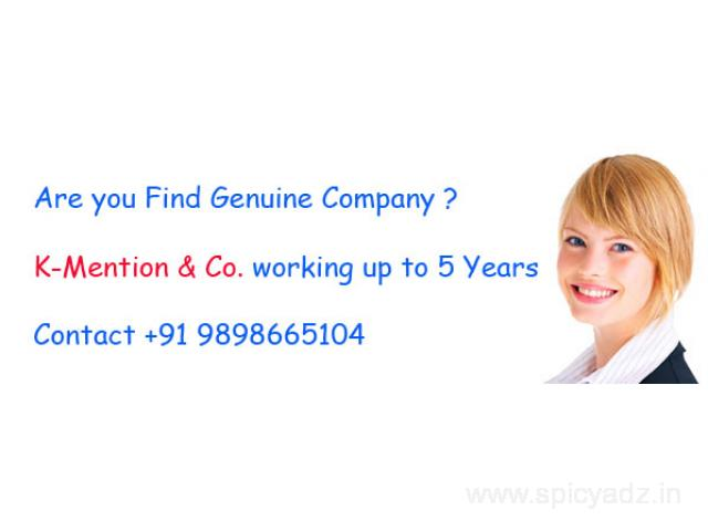 Easy and simple part time job Home based ad posting work_KMention