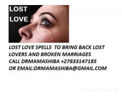 Lost love spells to return Ex lover +27833147185 by dr mama shiba