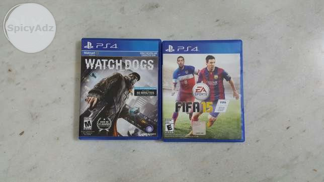 Watch dogs + fifa 15 ps4