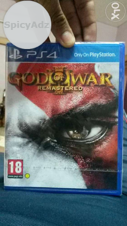 Sealed pack sony play station 4 (ps4) god of war 3 remastered